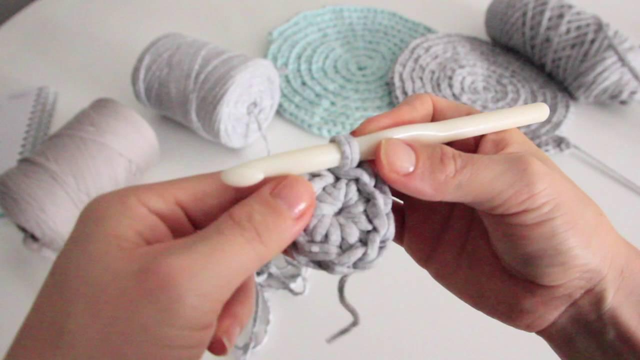 Alfombra trapillo 1 parte youtube - Como hacer alfombras de trapillo redondas ...