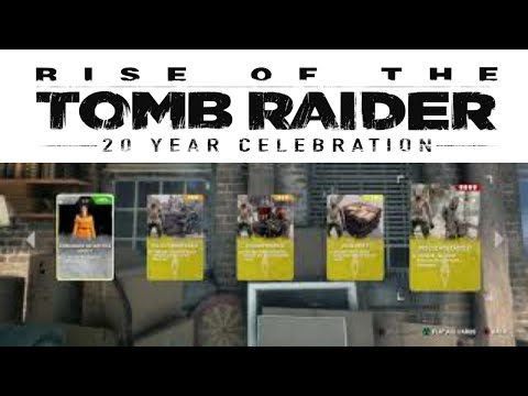 Rise of the tomb raider 20 year celebration card pack |