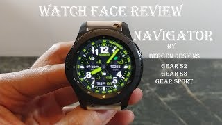Watch Face Review : Bergen Navigator Gear S2 Gear S3 Gear Sport