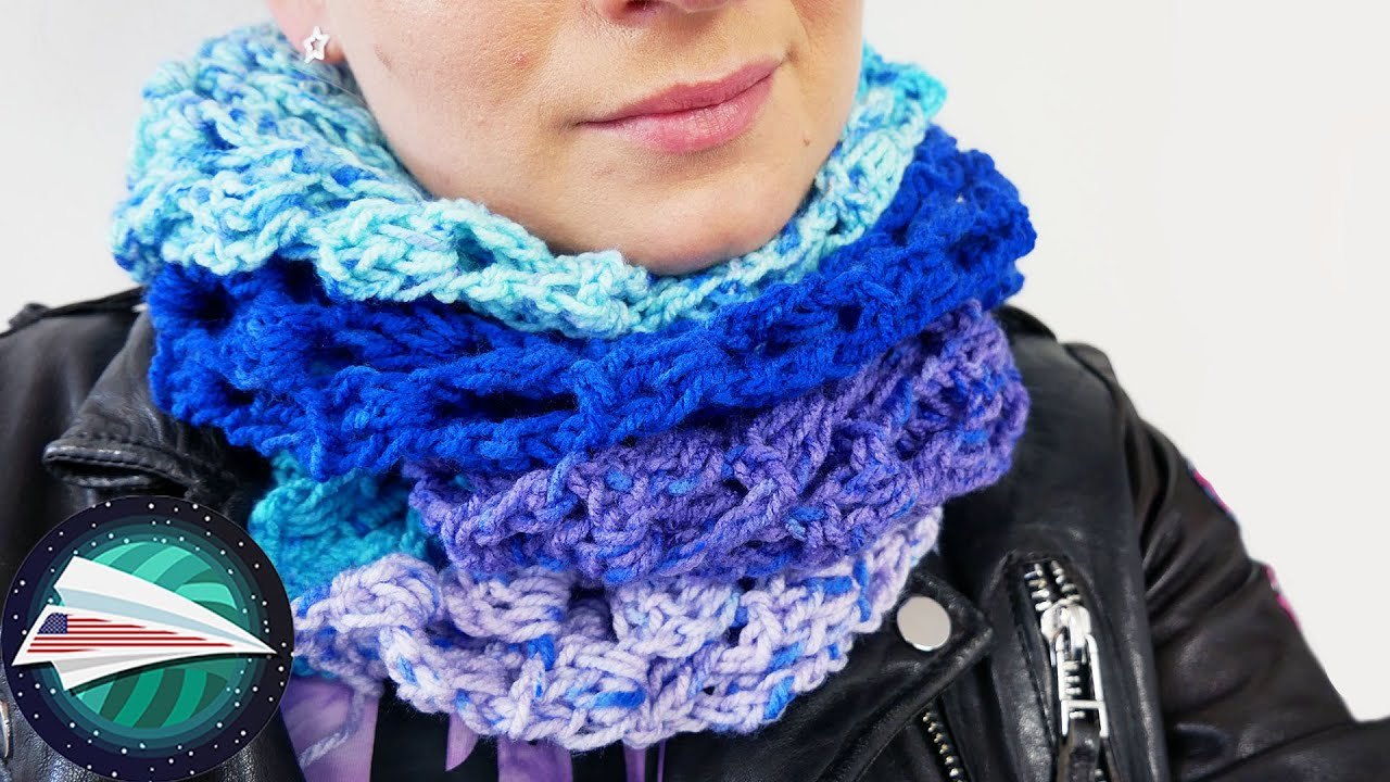 Net Pattern Scarf | Spring Scarf | Trebles & Chains | Easy Crocheting