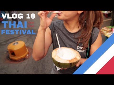 Vlog 18 - Thai Halal Food Festival (Tom Yam, Mangoes, Coconuts & More!)