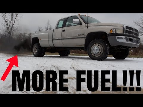 I GOT MY 12 VALVE CUMMINS TO ROLL COAL!!! *FREE HORSEPOWER MODS!*