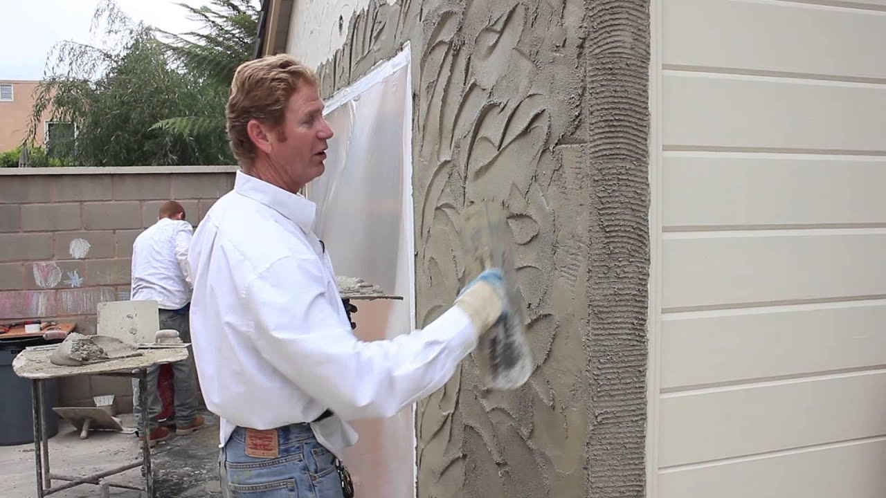 Teaching instructions for stucco textures finishes and or Exterior wall plaster design