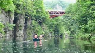 札幌市内、定山渓温泉でカナディアンカヌーツーリング♪ カヌー初心者も...