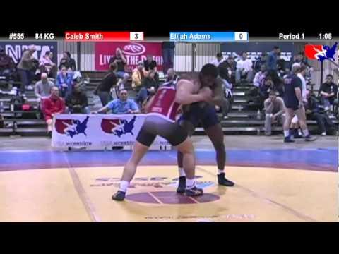 2011 U.S. Open SAT GR 84 KG: Caleb Smith vs. Elijah Adams Cons. Round 2
