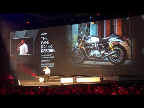 Presentation New Thruxton Triumph