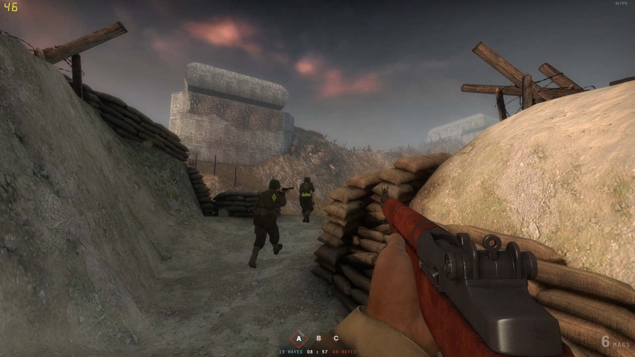 Insurgency Day Of Infamy mod Omaha Beach against bots