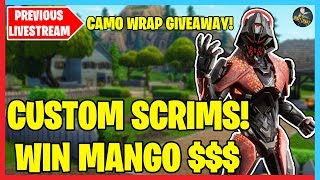 🔴 Eu & Na East Custom Scrims! | Wrap Gift! ! | Donation Forfeits Below | Fortnite LIVE 🔴