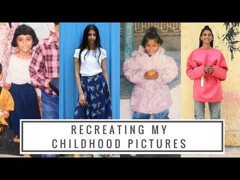 I RECREATED MY CHILDHOOD PICTURES | Dolly Singh