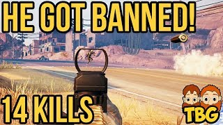 CHEATER GETS BANNED! // PUBG Xbox One Gameplay
