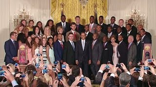 The UConn Huskies Visit the White House