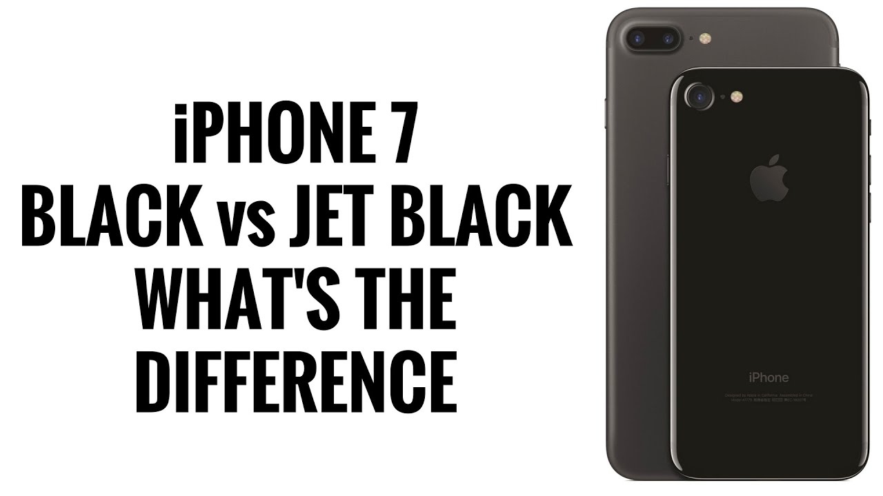 Difference Between Jet Black And Black Iphone