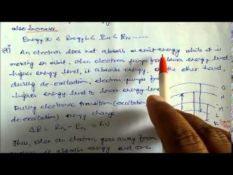 Bohr's Postulates of Atom Lecture Note 16 Class XI Chemistry