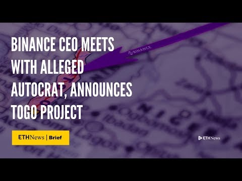 Binance CEO Meets With Alleged Autocrat, Announces Togo Project | ETHNews Brief