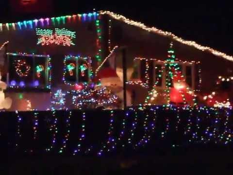 Christmas lights display, Bethlehem, PA 2012 - YouTube