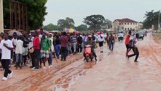 AFCON- GAMBIA VS ALGERIA: FANS IN DROVES TO STADIUM DESPITE THE RAIN