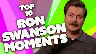 The 10 Greatest RON SWANSON Moments | Parks and Recreation | Comedy Bites