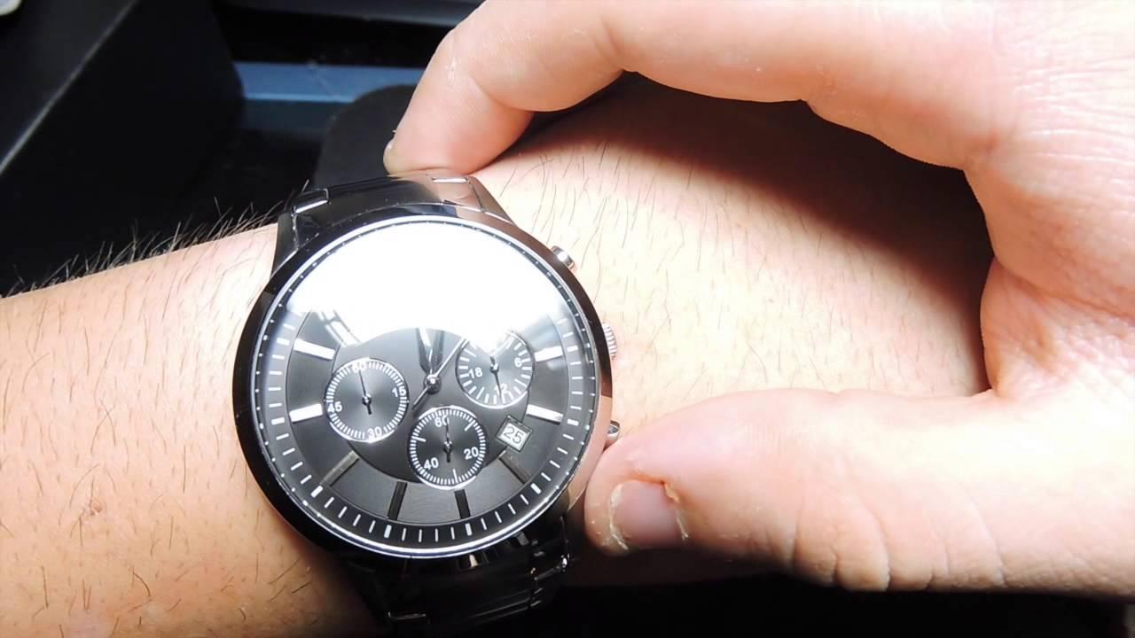 houkutteleva hinta paras halpa jaloissa Emporio Armani Chronograph Watch AR2434 Unbox Review And Explanation