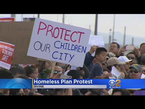 Irvine Residents Protest Homeless Plan