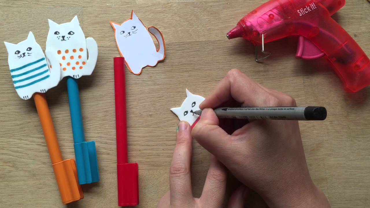 Back to School Pencil Toppers - Craft Foam Cats - DIY ...