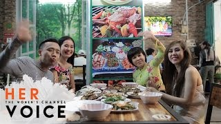 Xiên Que Nướng - Việt Hương, Trấn Thành, Duy Khánh, Lê Lộc   Vietnamese Food