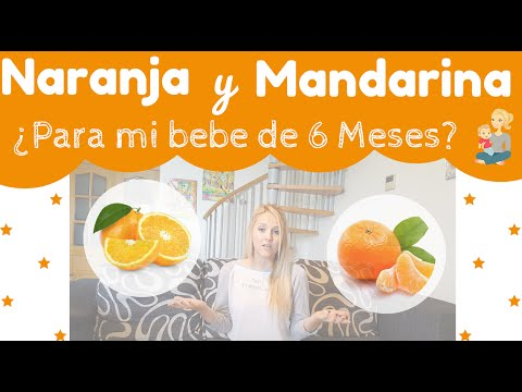Naranja y mandarina para bebe de 6 meses youtube - Bebe de 6 meses ...