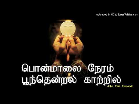 பொன்மாலை நேரம் பூந்தென்றல் காற்றில் with lyrics -TAMIL CATHOLIC SONGS