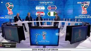 Goup D World cup draw pundits and discussion | Argentina Iceland Croatia Nigeria