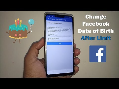How can i change my birthday year on facebook