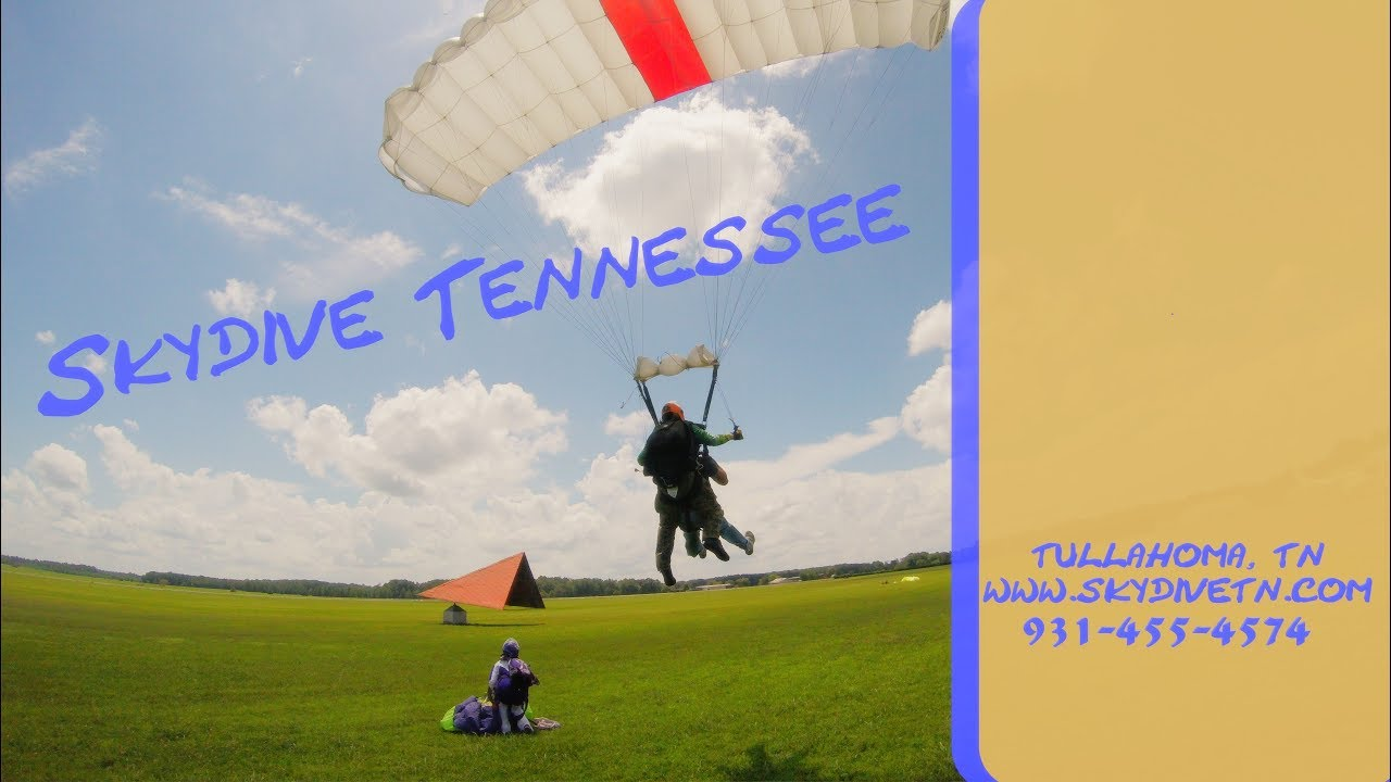 Tandem Skydive at Skydive Tennessee with Ariana Scroggins from Knoxville, TN