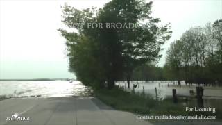 broughton il flooding cars driving through flood 4 29 2017 nfb