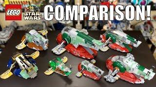 LEGO Star Wars Slave 1 Comparison! | (7144, 7153, 6209, 8097, 75060, 75243)