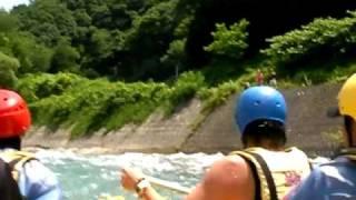 白馬アドベンチャークラブ 姫川ボート講習2010.7.8