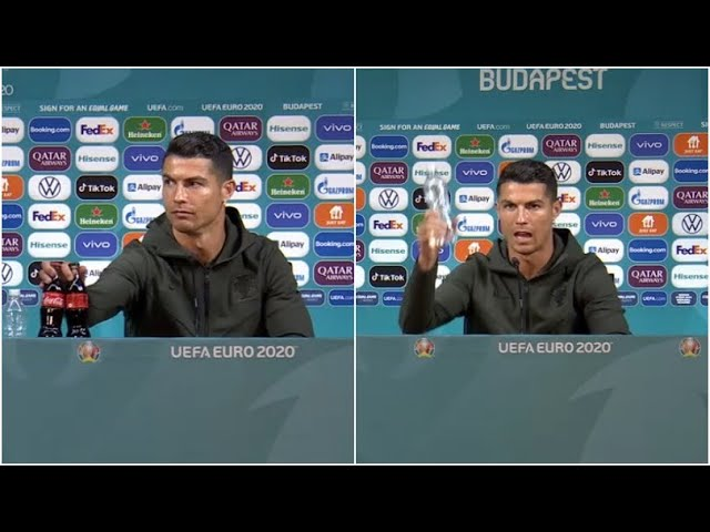 Coca-Cola perde US$ 4 bilhões após gesto de Cristiano Ronaldo; assista o vídeo