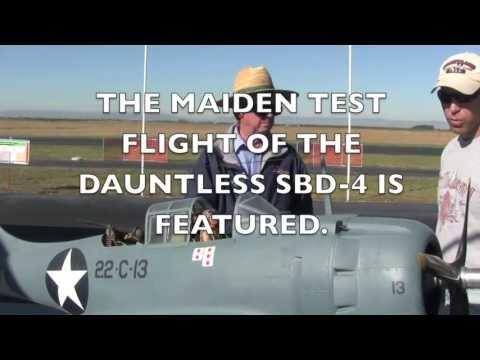 MAIDEN FLIGHT OF A DOUGLAS SBD-4 DAUNTLESS