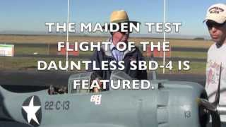MAIDEN FLIGHT OF A DOUGLAS SBD-4 DAUNTLESS
