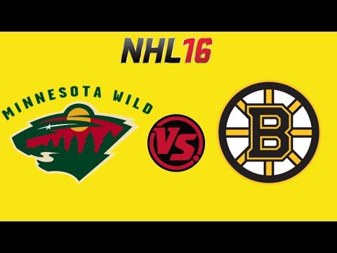 NHL 16 Minnesota Wild VS Boston Bruins (Season Mode) (PS4)