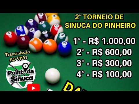 MARQUUNHOS X TATUZINHO - SEMI-FINAL - Torneio De Sinuca Do Pinheiro - Bar do Xexo - TIMBÓ S/C