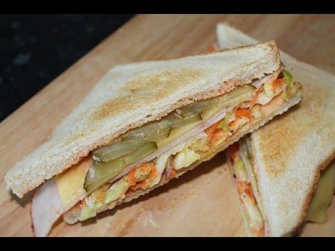 American Coleslaw Sandwich (Rezept/Recipe) || [ENG SUBS]