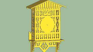 Animation Of Assembly Of Alpine Scroll Sawn Clock.wmv