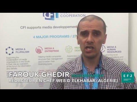 Interview Farouk Ghedir journaliste à ELKHABAR #4MParis