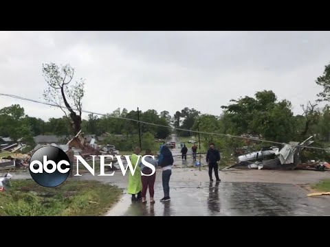 A powerful storm continues to make its way through the South