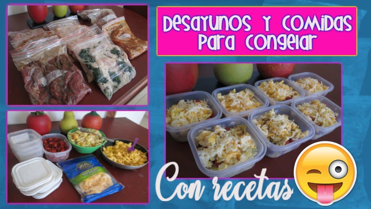 Preparando Desayunos Y Comidas Para Congelar Los Roles De Edy