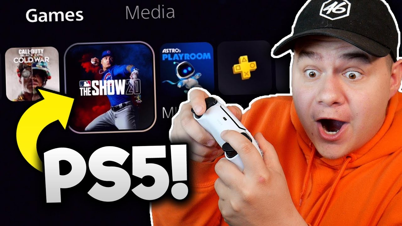 playing MLB THE SHOW 20 on the PS5 for the first time!!