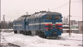 Тепловоз 2ТЕ116-788 на ст. Тарту / 2TE116-788 at Tartu station