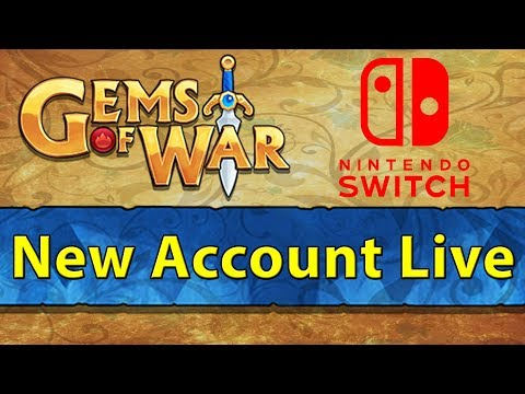 🎮 Gems of War: Nintendo Switch New Account Live Stream 1 | The Grind Begins! 🎮