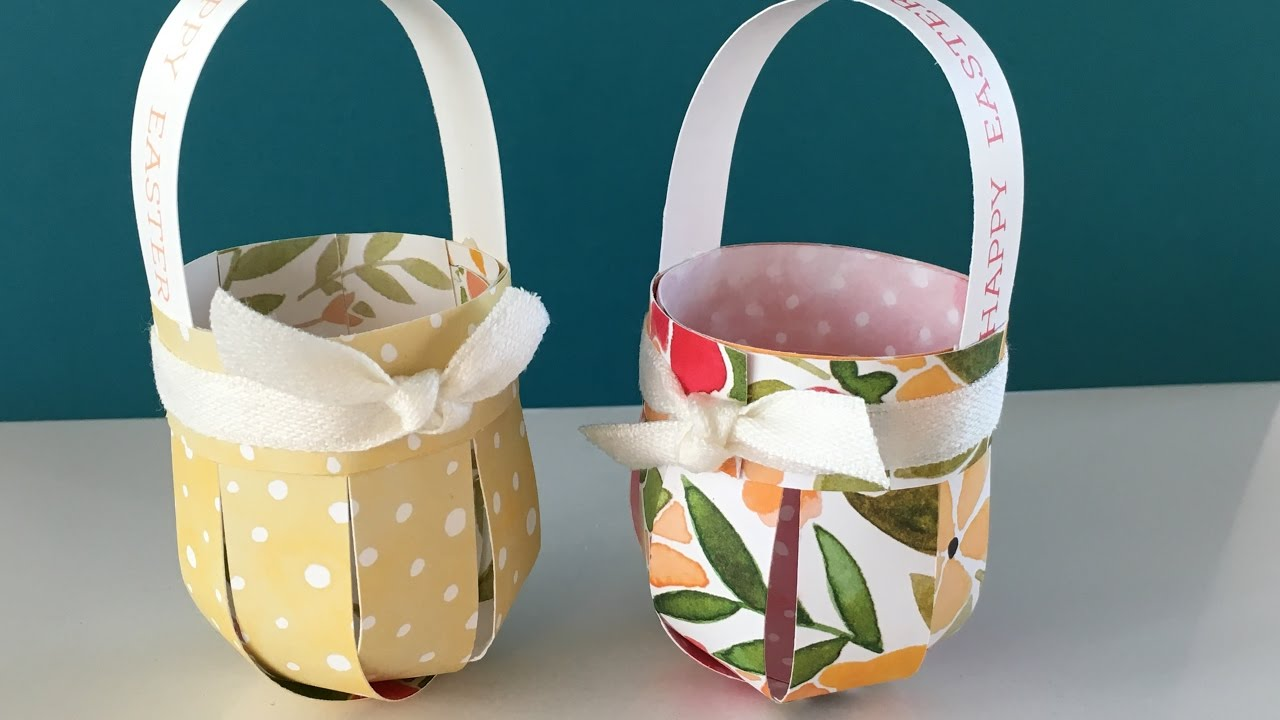 Easy easter basket tutorial using stampin up products youtube easy easter basket tutorial using stampin up products negle Image collections