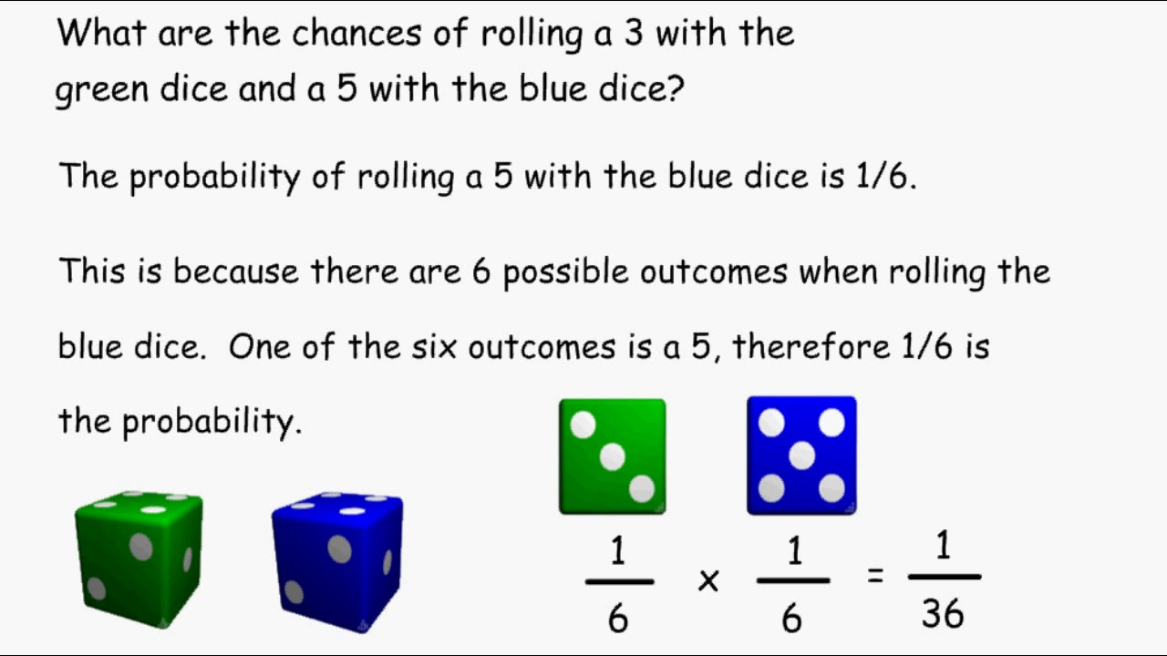 compound probability rolling dice youtube. Black Bedroom Furniture Sets. Home Design Ideas