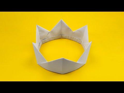 Оригами: корона. Как сделать корону из бумаги А4 без клея и без ножниц - лёгкое оригами DIY