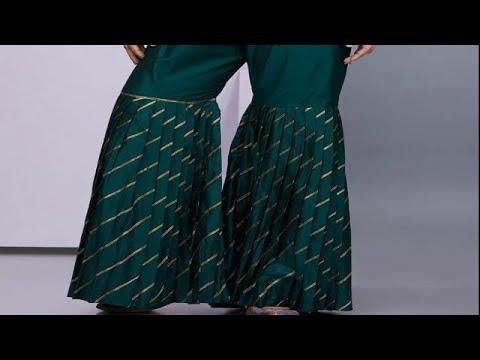Sharara Pants Cutting in Simple Way